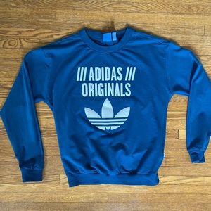 Blue adidas logo raised sweatshirt